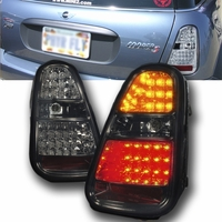 2005-2006 Mini Cooper S (Non-Base Model) Euro Style LED Tail Lights - Smoked