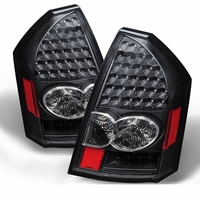 2005-2007 Chrysler 300 Performance LED Tail Lights - Black