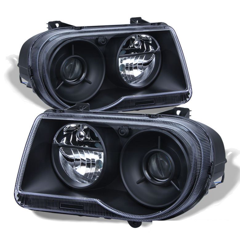 Chrysler 300c With Factory Halogen Headlights: 2005-2010 Chrysler 300C Replacement Projector Headlights