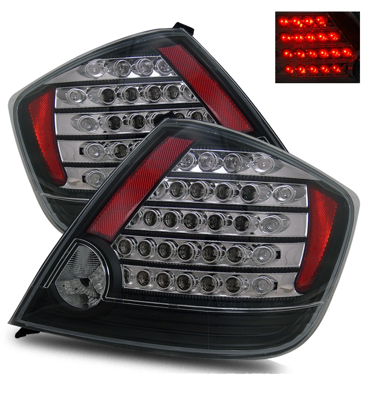 2005 2010 scion tc coupe euro style led tail lights black. Black Bedroom Furniture Sets. Home Design Ideas