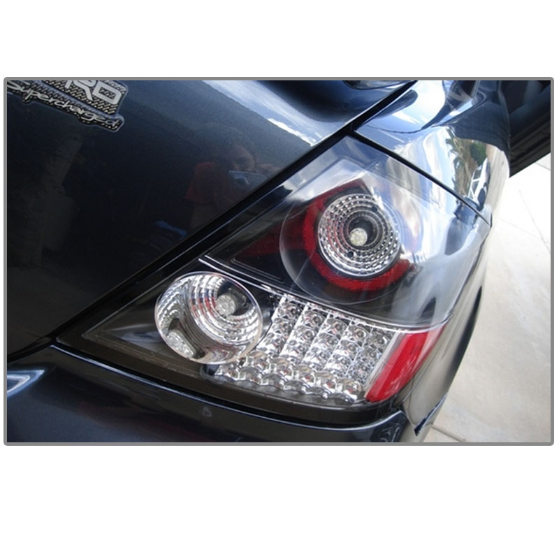 2005 2010 scion tc coupe euro style led tail lights black 111 tstc04. Black Bedroom Furniture Sets. Home Design Ideas