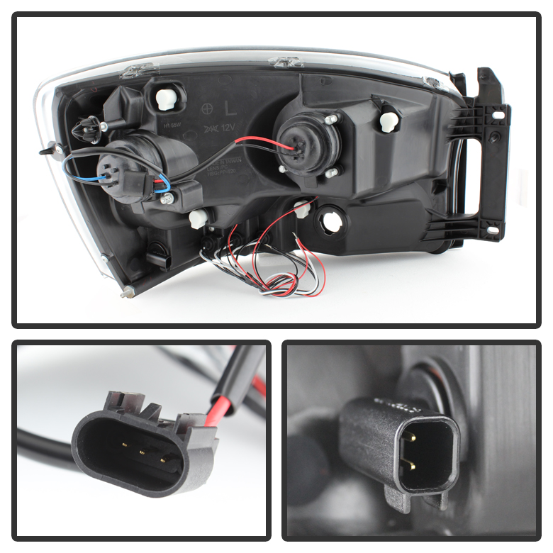 2006 2008 Dodge Ram 1500 2500 3500 Angel Eye Halo Led