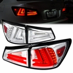 2006-2008 Lexus IS250 IS350 Performance LED Tail Lights - Chrome