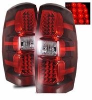 2007-2012 Chevy Avalanche Euro Style LED Performance Tail Lights - Red