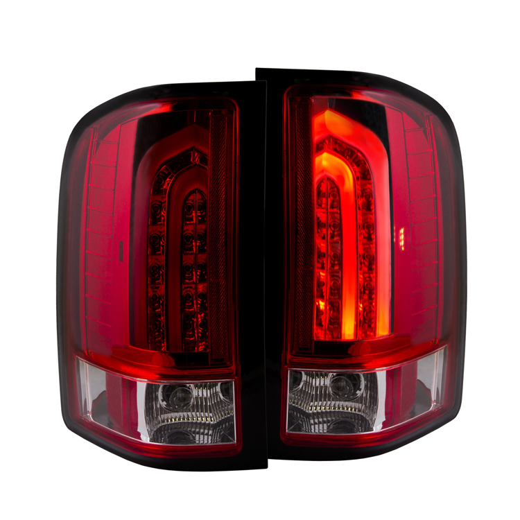 2007 2013 chevy silverado g2 performance led tail lights red clear. Black Bedroom Furniture Sets. Home Design Ideas