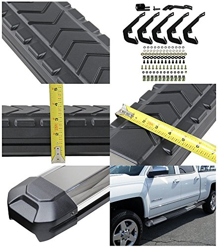 "2007-2015 GMC Sierra Chevy Silverado Crew Cab 5"" Side Step"