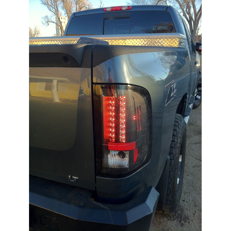 2009 2010 chevy silverado euro style led tail lights small reverse. Black Bedroom Furniture Sets. Home Design Ideas
