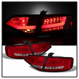2009-2012 Audi A4 / S4 Sedan Performance LED Tail Lights - Red Clear
