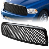 09-12 Dodge RAM 1500 Black ABS Plastic Mesh Sport Grill / Grille Guard
