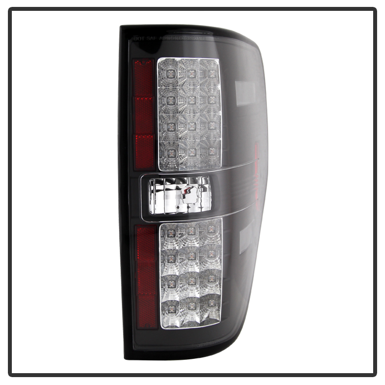 2009 2014 ford f150 euro style led tail lights chrome alt yd ff15009. Black Bedroom Furniture Sets. Home Design Ideas
