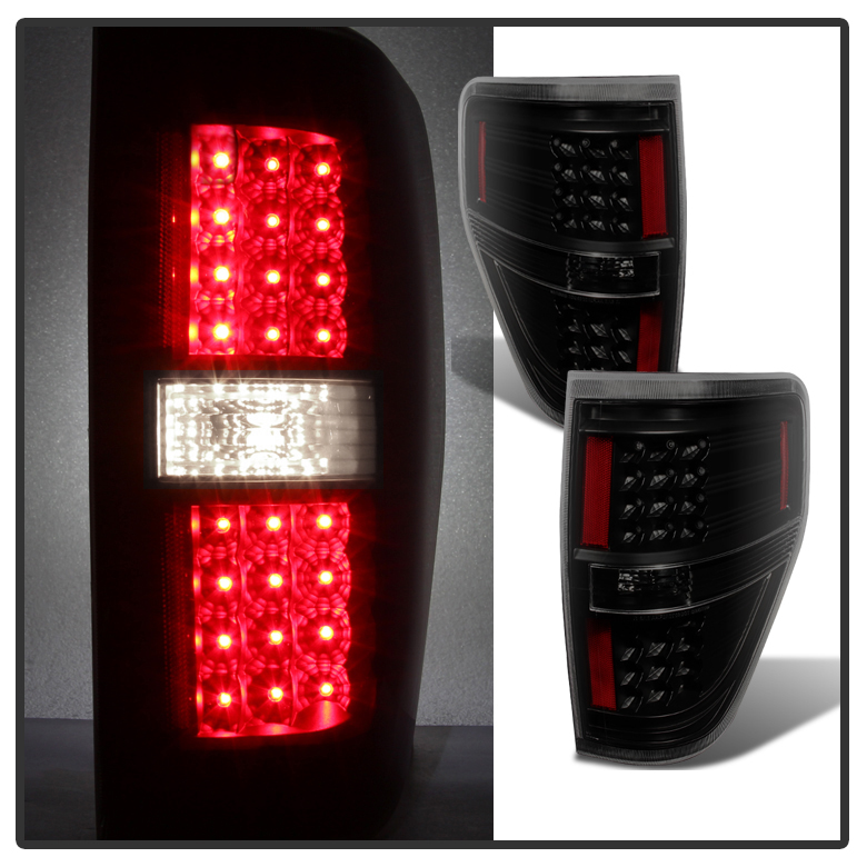 2009 2014 ford f150 performance led tail lights black smoked. Black Bedroom Furniture Sets. Home Design Ideas
