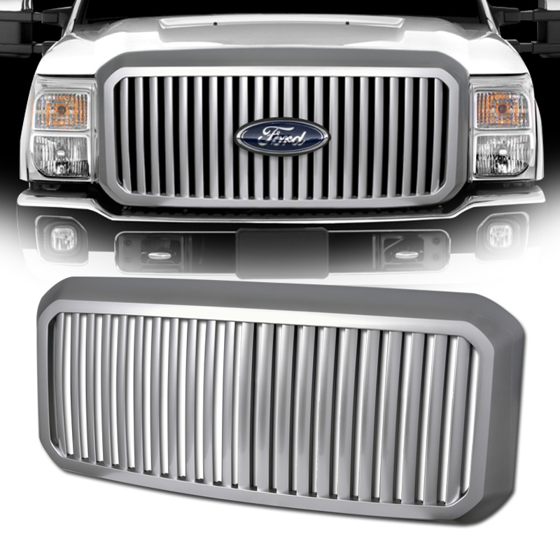 2016 Ford F250 F350 Superduty Vertical Front Grill Grille - Chrome