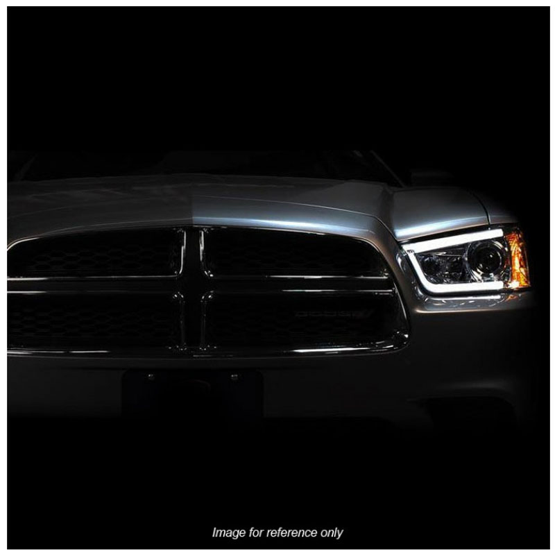 2014 Dodge Charger Warranty >> 2011-2013 Dodge Charger (Non HID Model) LED DRL Tube Projector Headlights - Chrome