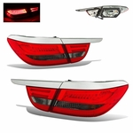 2012-2015 Buick Verano LED Tail Lights - Red Smoked