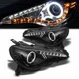 2013-2014 Subaru BRZ BR-Z Angel Eye Halo (CCFL Upgrade) & LED Projector Headlights - Black