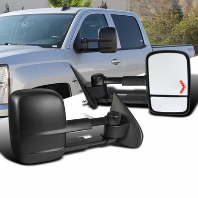 2014-16 Chevy Silverado / GMC SIerra [Power + Heated] Extend Towing Mirror - LED Turn Signal