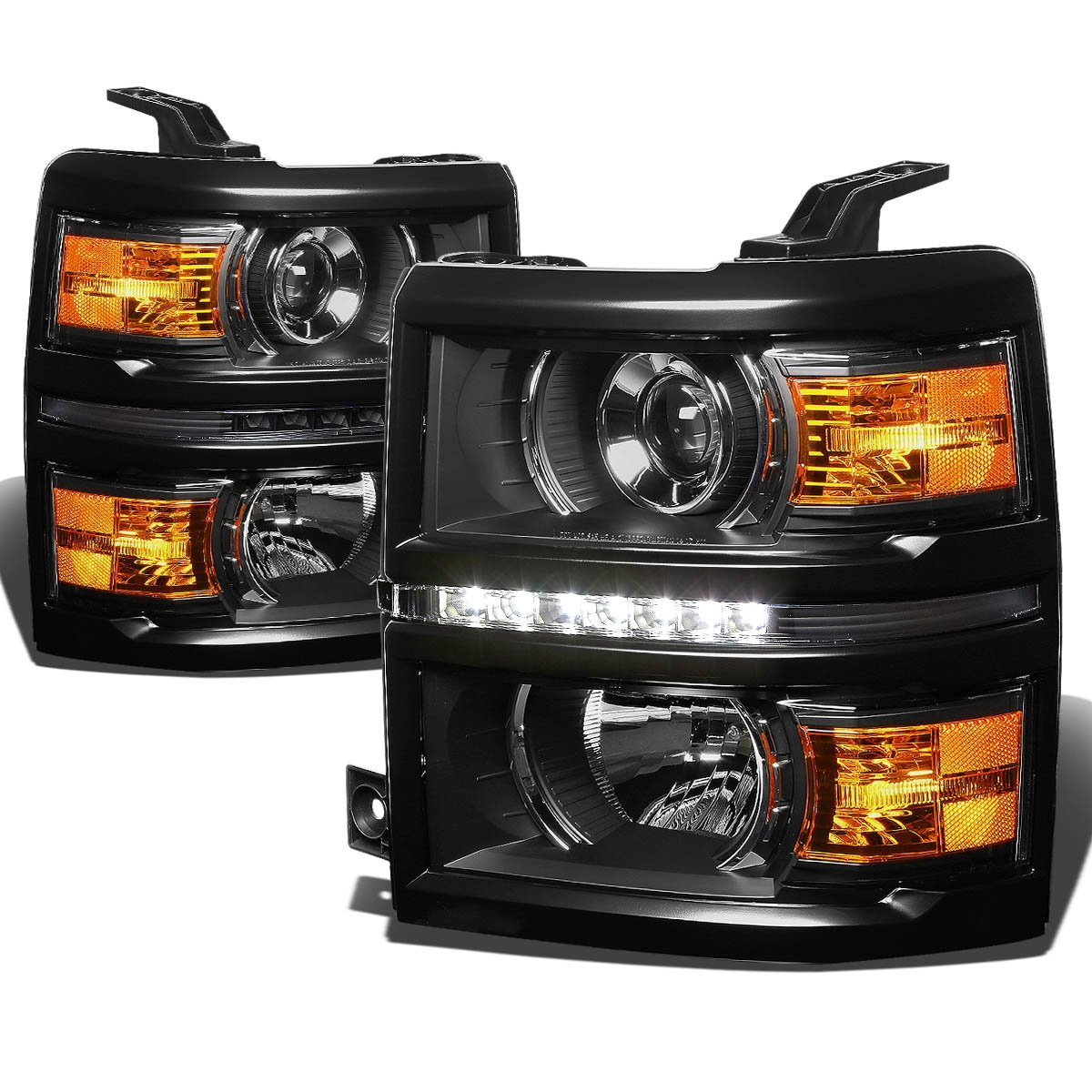 2014 2016 Chevy Silverado 1500 Led Strip Projector