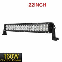 """22"""" inch 160W LED Light Bar Flood / Spot Combo Offroad Driving 4WD 4X4"""