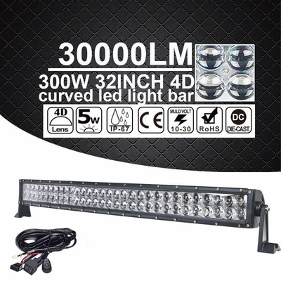 "32"" inch 300W LED Curved Spot Flood Work Light Bar Offroad UTE 4WD 4X4 ATV Truck"