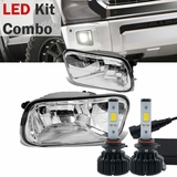 60w LED Kit + 09-10 Dodge Ram 1500 / 10-12 2500 3500 OE-Style Fog Lights - Clear