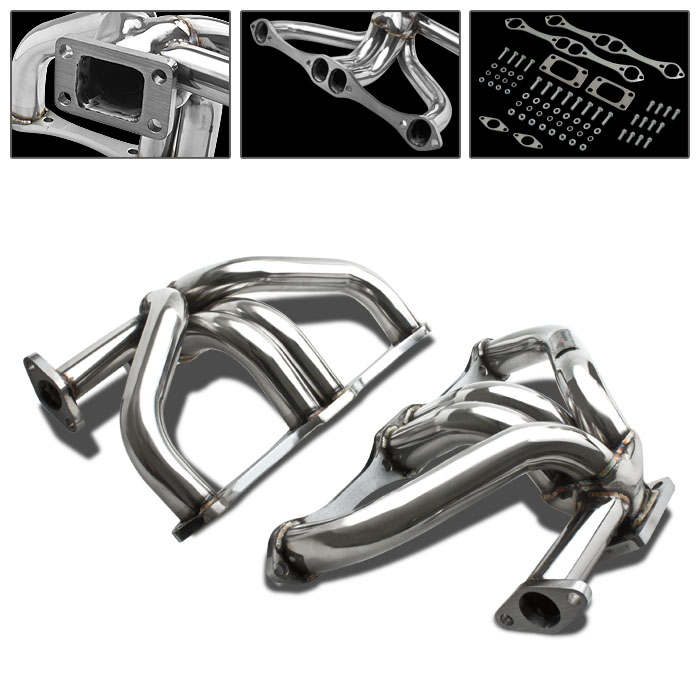66-96 Chevy Small Block SBC T3 T4 Stainless Turbo Manifold