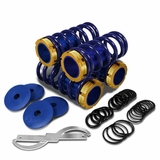 DNA 88-00 Honda Civic / CRX / Integra Adjustable Lowering Suspension Coilover Springs - Blue / Gold