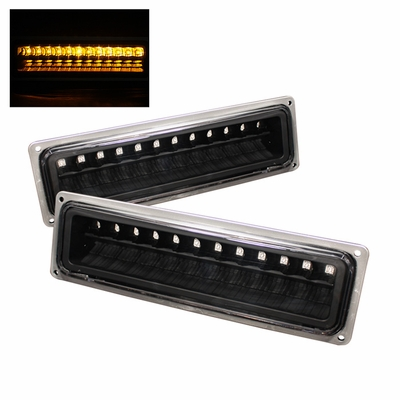 88-98 Chevy C/K 1500/2500/3500 LED Bumper Signal Lights - Black