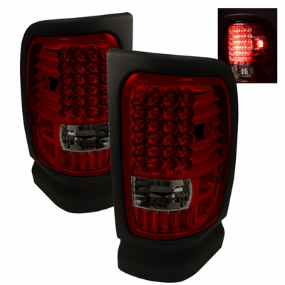 94 01 dodge ram 1500 2500 3500 euro style altezza led tail lights. Black Bedroom Furniture Sets. Home Design Ideas