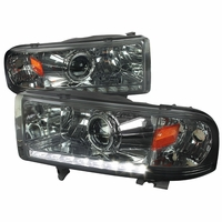 94-01 Dodge RAM 1500 2500 3500 Retrofit Style LED DRL Projector Headlights - Smoked
