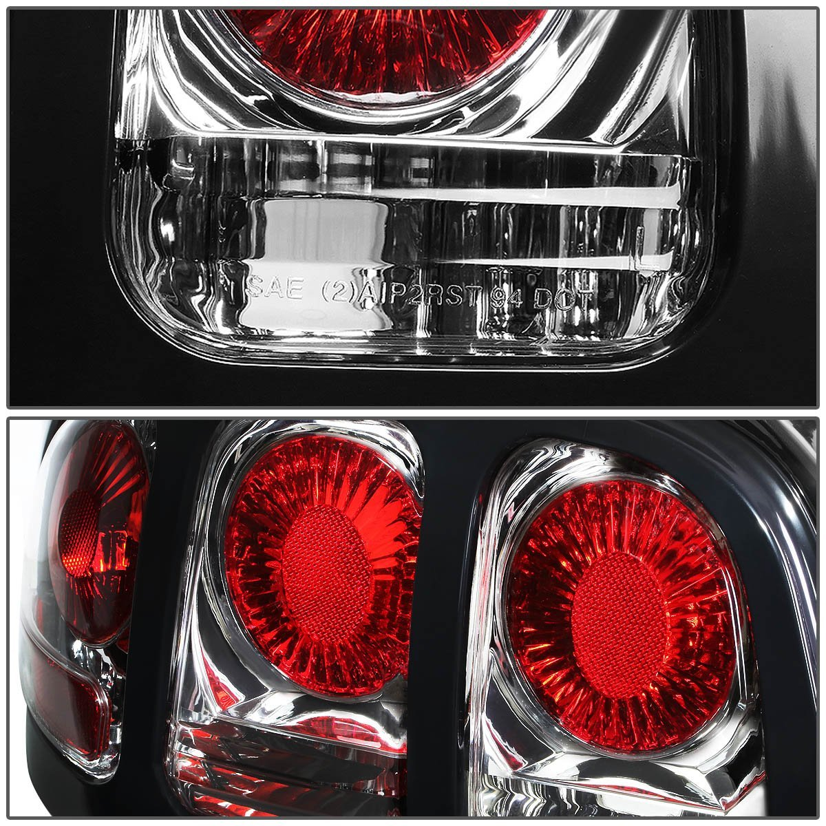 94 98 ford mustang replace altezza tail lights chrome. Black Bedroom Furniture Sets. Home Design Ideas