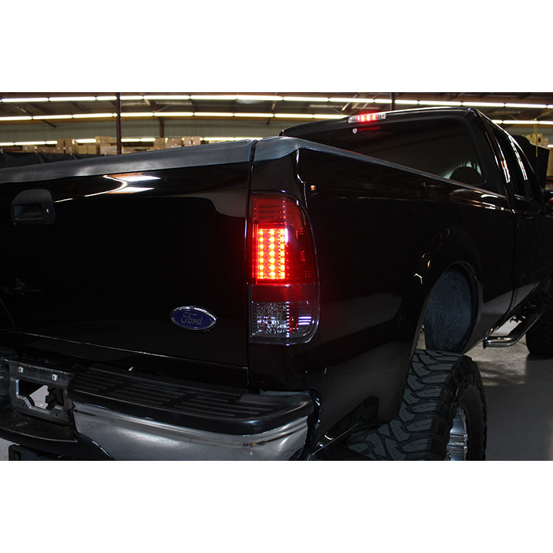 97 03 Ford F150 99 07 Superduty Led Tail Lights Black