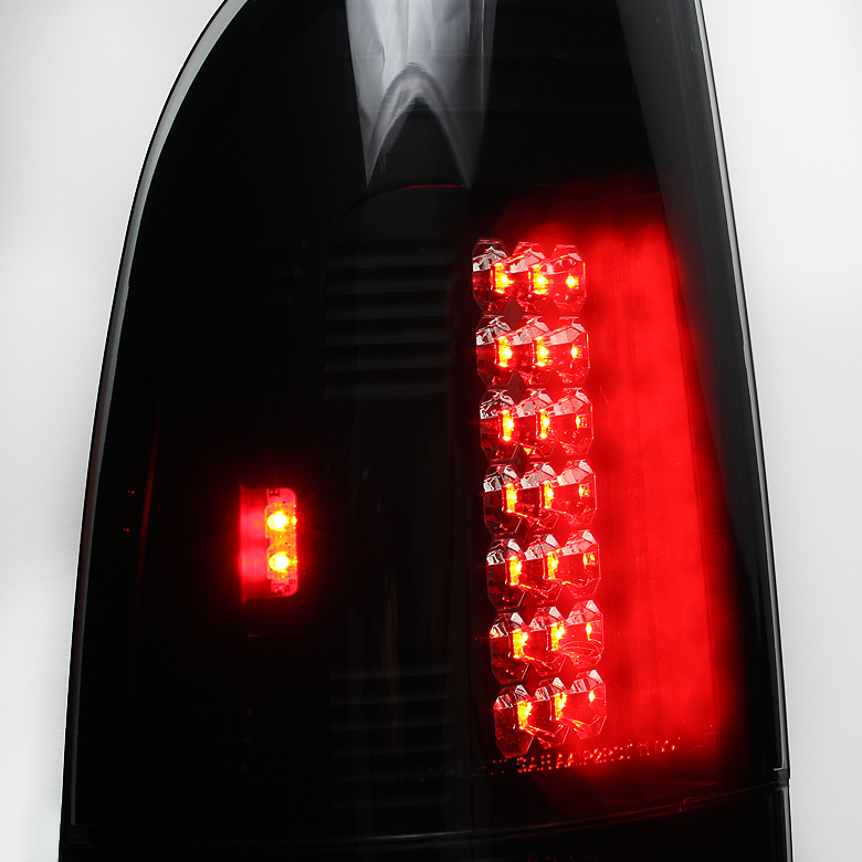 97 03 ford f150 99 07 superduty led tail lights smoked alt. Black Bedroom Furniture Sets. Home Design Ideas