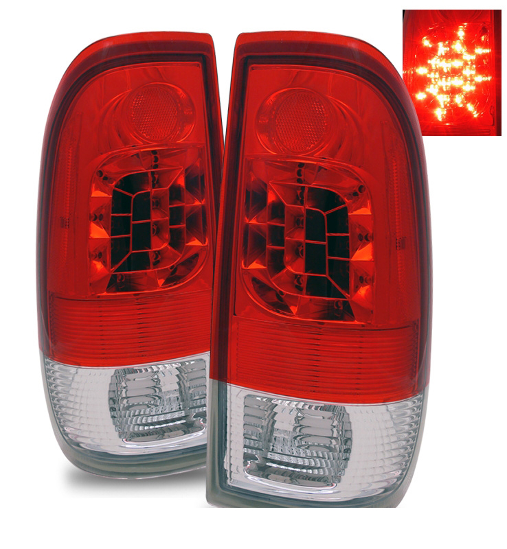 97 03 ford f150 f250 f350 euro style led tail lights. Black Bedroom Furniture Sets. Home Design Ideas