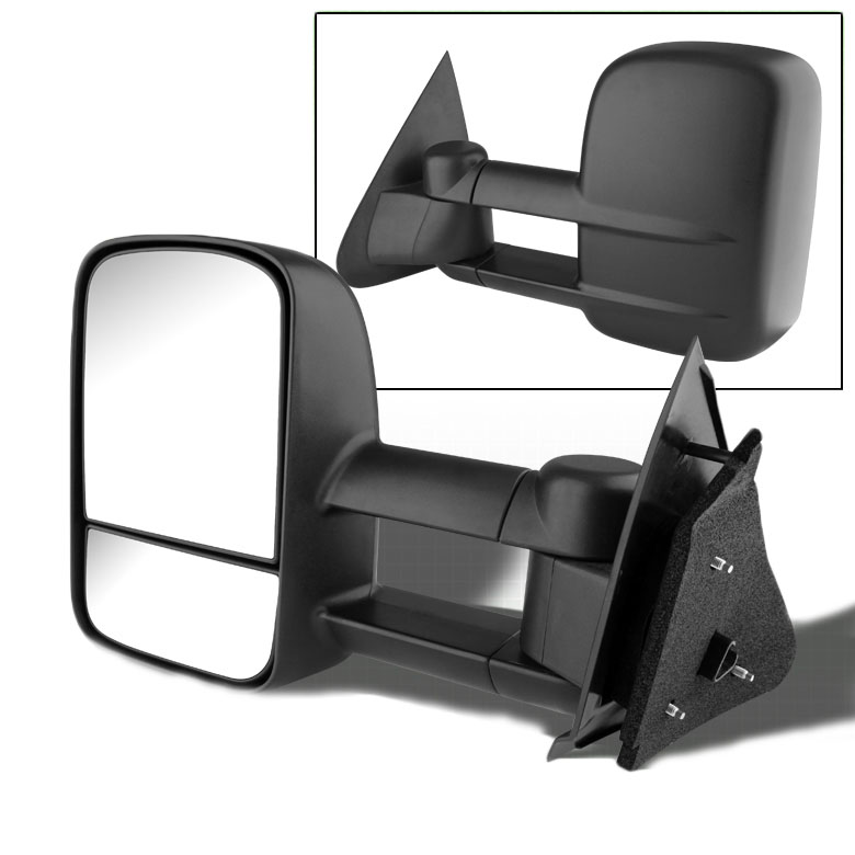 97 03 ford f150 f250 heavy duty size extendable manual adjustable side towing mirrors