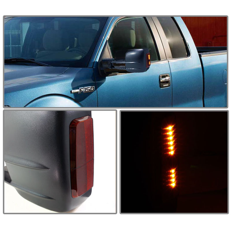 97 03 Ford F150 F250 Heavy Duty Size Extendable: 1997-2003 Ford F150 F250 Light Duty Power + LED Towing Tow