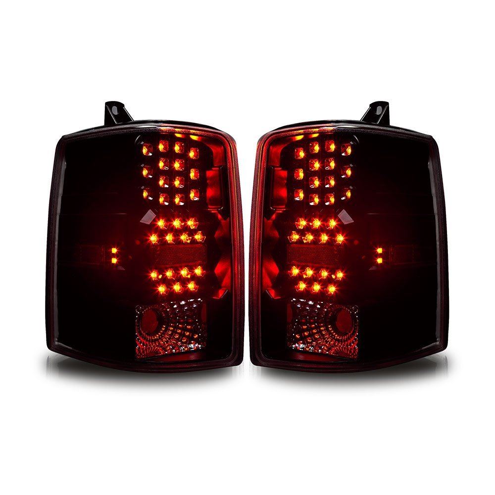 97 98 jeep grand cherokee euro style led tail lights black smoked. Black Bedroom Furniture Sets. Home Design Ideas