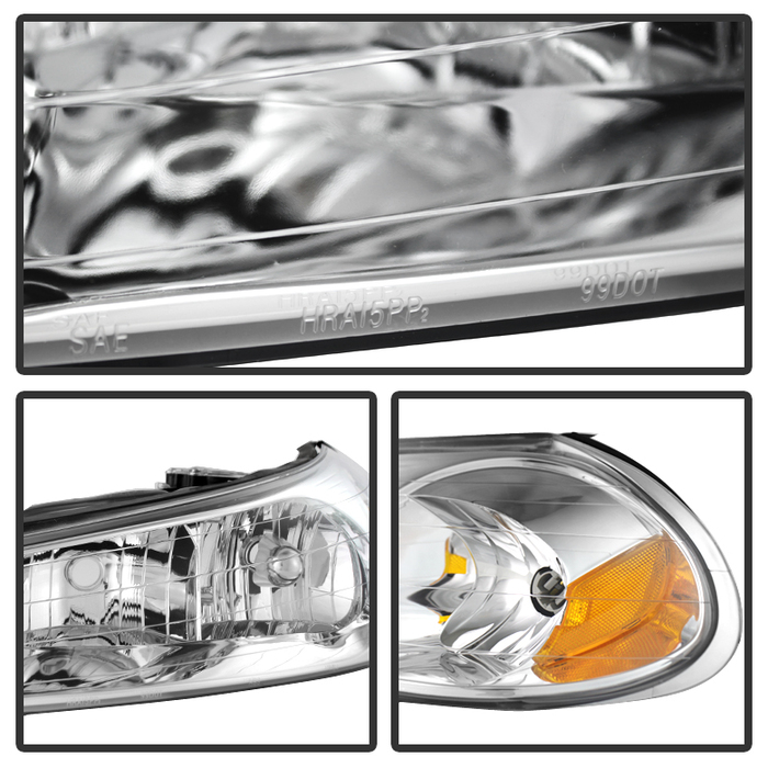 Ford Contour Replacement Crystal Headlights Pair