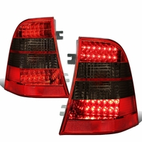 98-03 Mercedes-Benz M-Class W163 Pair of Smoked & Red Lens LED Brake + Signal Tail Lights