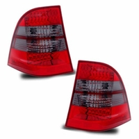 98-05 Mercedes Benz W163 ML Class LED Tail Lights - Red Smoked