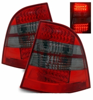 98-05 Mercedes Benz W163 ML320 350 430 Performance LED Tail Lights - Red / Smoked