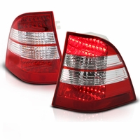 98-05 Mercedes Benz W163 ML350|ML500|ML320|ML430|ML55 AMG  Performance LED Tail Lights - Red / Clear