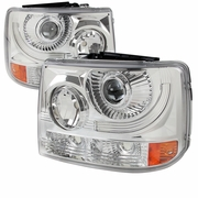 99-02 Chevy Silverado 1PC Projector Headlights - Chrome