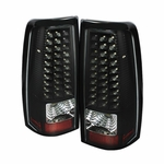 99-02 Chevy Silverado 99-03 GMC Sierra LED Black Tail Lights ALT-ON-CS99-LED-BK By Spyder