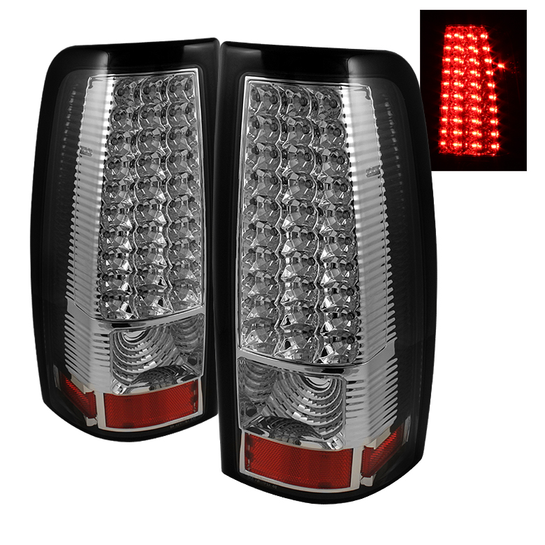 99 02 chevy silverado 99 03 gmc sierra led chrome tail lights. Black Bedroom Furniture Sets. Home Design Ideas