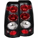99-02 Chevy Silverado Euro Altezza Tail Lights - Black