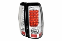 99-02 Chevy Silverado Euro LED Tail Lights - Chrome