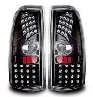 99-02 Chevy Silverado Euro Style LED Tail Lights - Black