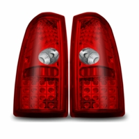 Winjet 99-02 Chevy Silverado Performance LED Tail Lights - Red Clear