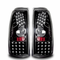 Winjet 99-02 Chevy Silverado Performance LED Tail Lights - Gloss Black