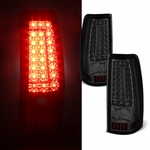 99-02 Chevy Silverado / GMC Sierra C-Style LED Tail Lights - Smoked